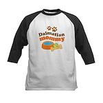 Dalmatian Mom Kids Baseball Jersey
