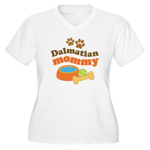 Dalmatian Mom Women's Plus Size V-Neck T-Shirt