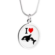 Whale Song Silver Round Necklace
