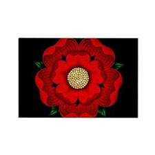 Red Rose Of Lancaster Rectangle Magnet