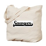 Black jersey: Sawyer Tote Bag