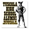 "Tuscola High School Alumni Square Car Magnet 3"" x"