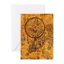 Clockwork Collage Greeting Cards (Pk of 10)