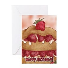 Birthday Card With Strawberry Cake