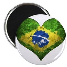 "Brazilian Heart 2.25"" Magnet (10 pack)"