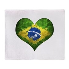 Brazilian Heart Throw Blanket