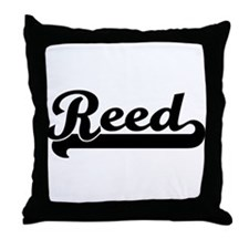 Black jersey: Reed Throw Pillow