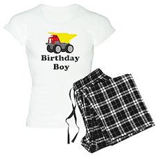 Dump Truck Birthday Boy Pajamas