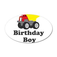Dump Truck Birthday Boy 20x12 Oval Wall Decal
