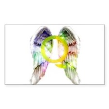 Rainbow Angel Wings Decal