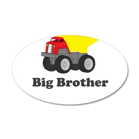 Big Brother Dump Truck 20x12 Oval Wall Decal