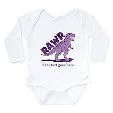 Personalized Purple Dinosaur RAWR Long Sleeve Infa