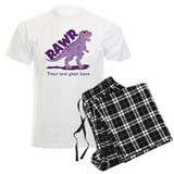 Personalized Purple Dinosaur RAWR pajamas