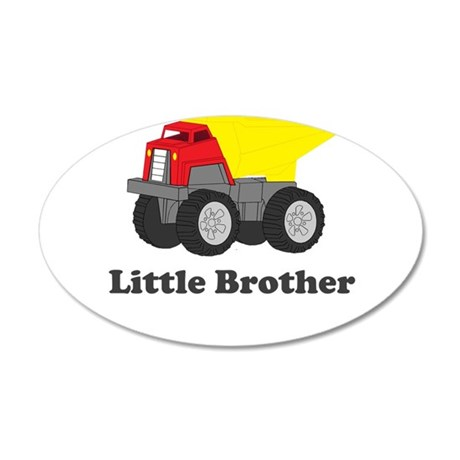 Little Brother Dump Truck 35x21 Oval Wall Decal