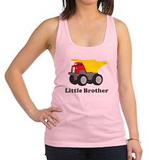 Little Brother Dump Truck Racerback Tank Top