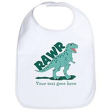 Personalized Green Dinosaur RAWR Bib