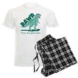 Personalized Green Dinosaur RAWR pajamas