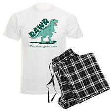 Personalized Green Dinosaur RAWR Pajamas