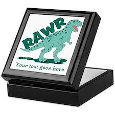 Personalized Green Dinosaur RAWR Keepsake Box