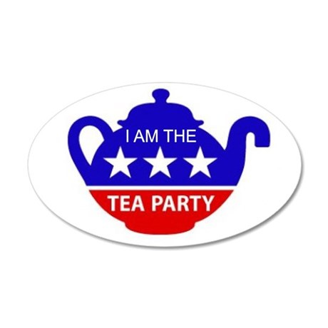 TEA PARTY 35x21 Oval Wall Decal
