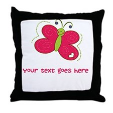 Personalized Cute Cartoon Butterfly Throw Pillow