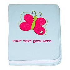 Personalized Cute Cartoon Butterfly baby blanket
