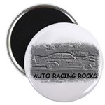 AUTO RACING ROCKS Magnet