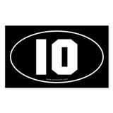 #10 Euro Bumper Oval Decal -Black Decal