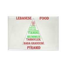 Lebanese Food Pyramid Rectangle Magnet