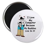 I LOVE MY COMPUTER HUMOROUS Magnet