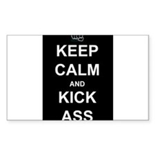 Keep Calm Kick Ass Decal