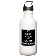 Keep Calm Carry Concealed Water Bottle