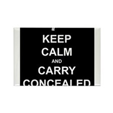 Keep Calm Carry Concealed Rectangle Magnet