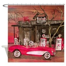 Classic Sport Car Shower Curtain