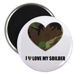 I LOVE MY SOILDER HEART Magnet
