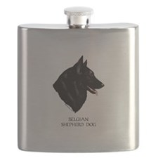 Belgian Shepherd Dog Flask