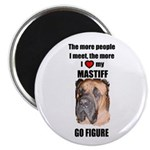 THE MORE I LOVE MY MASTIFF Magnet