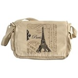 Vintage Paris Eiffel Tower Messenger Bag
