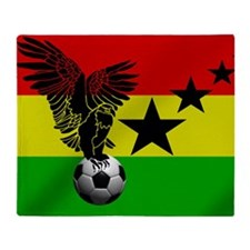 Ghana Football Flag Throw Blanket