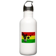 Ghana Football Flag Water Bottle