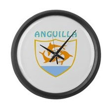 Anguilla Coat of arms Large Wall Clock