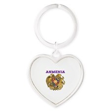 Armenia Coat of arms Heart Keychain