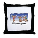 Reindeer Games Cartoon Throw Pillow