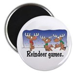 Reindeer Games Cartoon Magnet