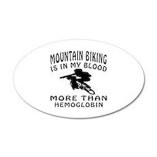 Mountain Biking Designs 35x21 Oval Wall Decal