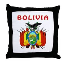 Bolivia Coat of arms Throw Pillow