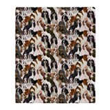 cavalier spaniel Mural Throw Blanket