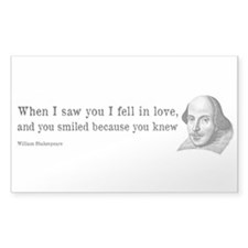 Shakespeare on Love (Hamlet) Decal