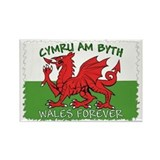 ...Cymru Am Byth... Oblong Magnet