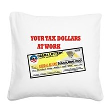 OBAMA LOTTERY Square Canvas Pillow